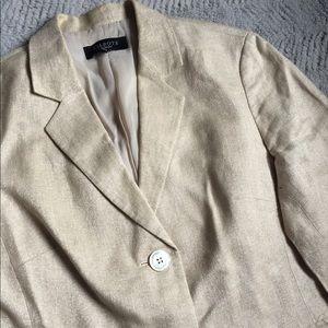 Talbots Cream Linen Jacket
