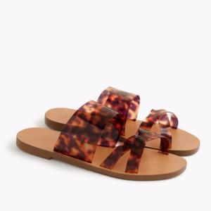 J. Crew Bali Tortoise Slide Sandals