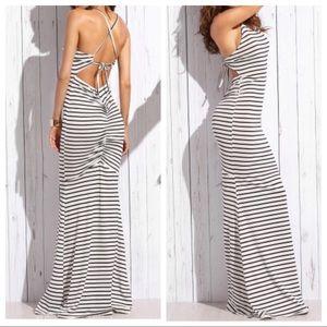 Dresses & Skirts - Sexy Fishtail Striped Knit Dress