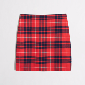 J. Crew Factory Plaid Mini Skirt