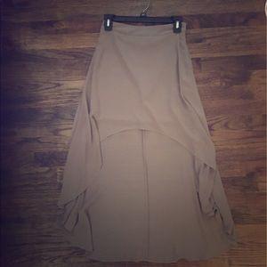 Light Brown High-Low Skirt