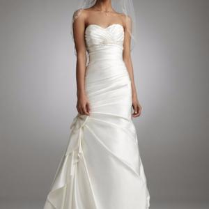 David's Bridal Dresses - New Mermaid Sweetheart Satin Ivory Wedding Gown
