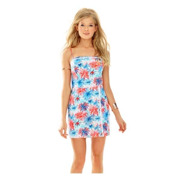 038e4b922a45 Lilly Pulitzer Dresses   Skirts - Lilly Pulitzer Skort Romper Dress S 10  Fireworks