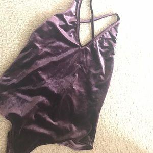 Tops - Lowback bodysuit in PURPLE NWT
