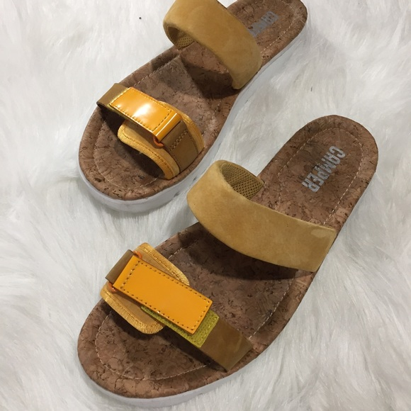 66 Off Camper Shoes Camper Oruga Two Strap Slide Sandal