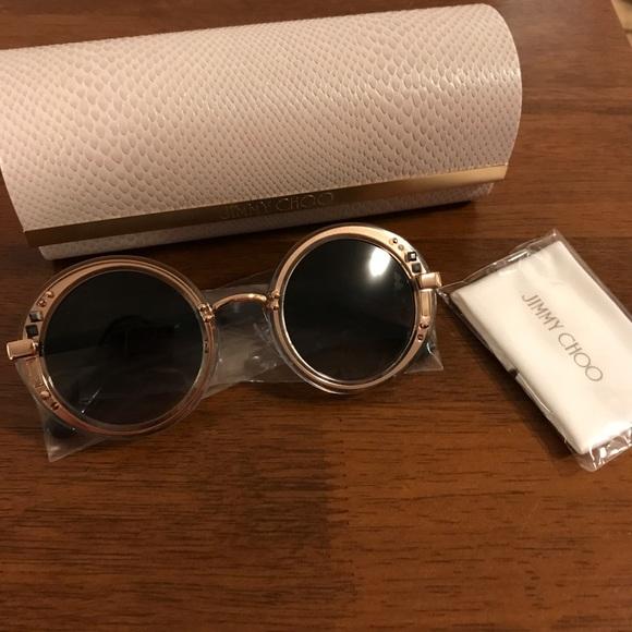 701d3298892 Jimmy Choo Accessories - NWOT NIB jimmy choo GEM sunglasses rose gold black