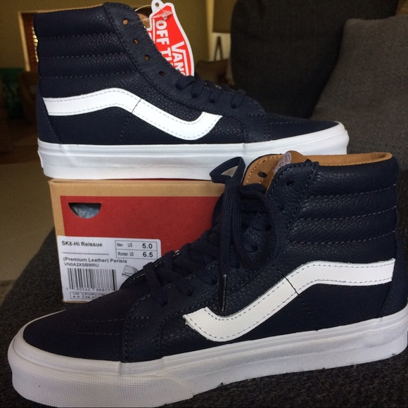 070cc36e64 NEW IN BOX!🏁 Vans Sk8-Hi Navy BluePremium Leather