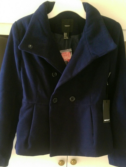 Forever 21 Jackets & Blazers - New Forever 21 Navy Blue Coat Jacket