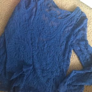 Blue Lace Swim Cover-Up S/M