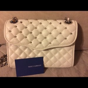 Rebecca Minkoff studded Mini Affair white, silver
