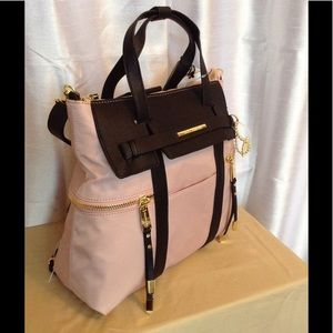 Steve Madden Convertible Backpack in Blush Pink