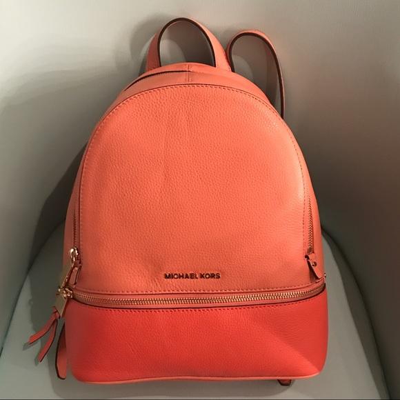 6ae3b6546759 🔴PRICE FIRM🔴New M Kors Pink Rhea Backpack