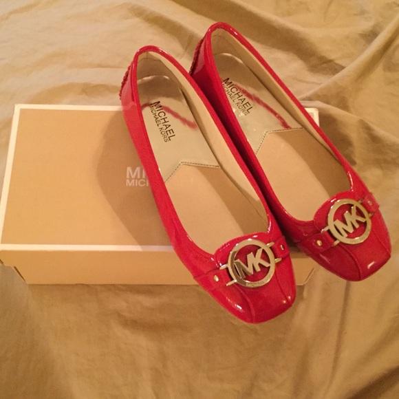 Michael Kors Shoes | Red Mk Flats Size