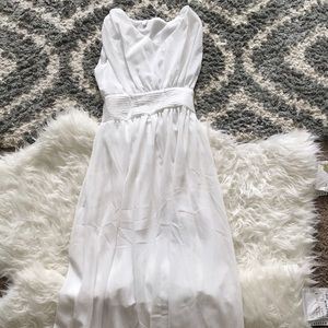 Dresses & Skirts - Long White Ruche Gown