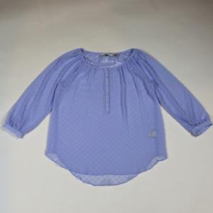 LC Lauren Conrad sheer light blue heart blouse