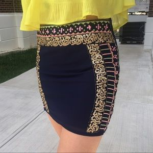 Francesca's Collections Sequin Skirt