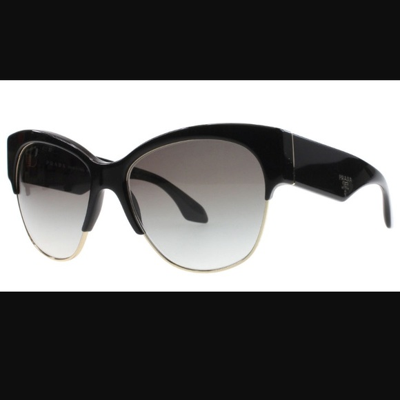 0fcab24114e8 New PRADA Sunglasses SPR 11 - Havana Black Cat Eye.  M 5961a12b6a5830852202f48b