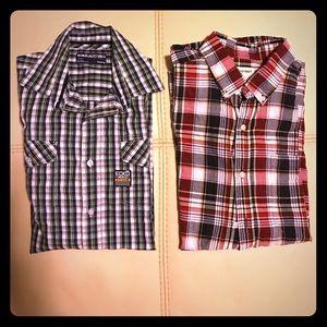 Other - Men's Shirt sleeve button down shirt bundle
