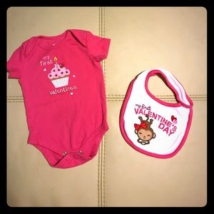 Other - Baby First Valentine's Day outfit bundle