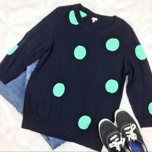 J.Crew Factory Intarsia Charley Sweater in Dot