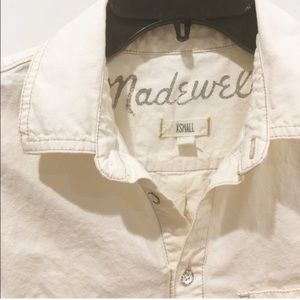 Madewell vintage contrast popover shirt