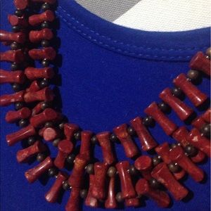 Three strand coral necklace!
