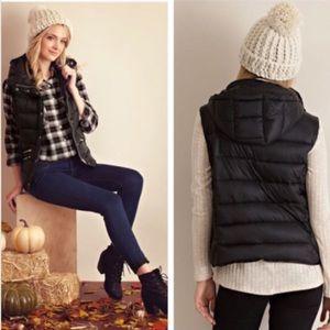 Luxuriously Soft Black Puffer Vest