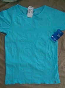 Tops - Champion quick dry blue exercise tee top