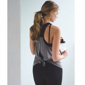 Lululemon Clip-In Tank *Light Luon Heathered Slate