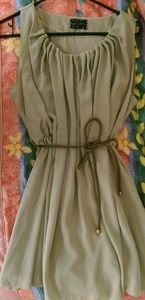 Dresses & Skirts - Boutique Goddess Tan Brown Chic Dress Rope Belt