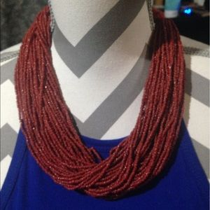 Gorgeous red beaded necklace !