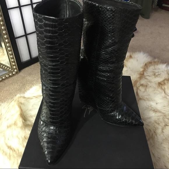Giuseppe Zanotti Shoes - Host Pick! Giuseppe Zanotti Python Wedge Boots ad2cac877461