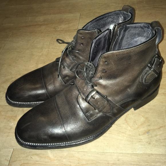 John VarvatosMen's John Varvatos Lafayette Buckle Boot KnKGal