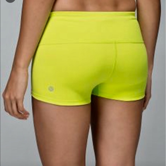 7d8dbf6564 lululemon athletica Pants - SALE! NWT Lululemon Boogie Shorts in Neon Yellow  4