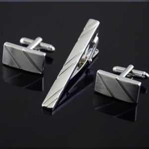 Other - ✨Coordinated Cuff Links & Tie Clip Set