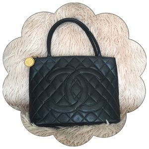 PRICE FIRM Chanel Medallion Quilted Shopping Tote