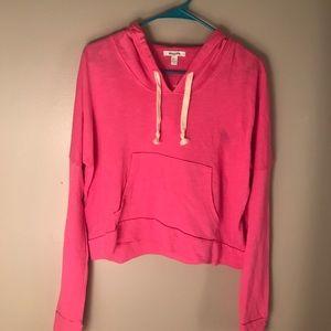 Tops - pink cropped hoodie