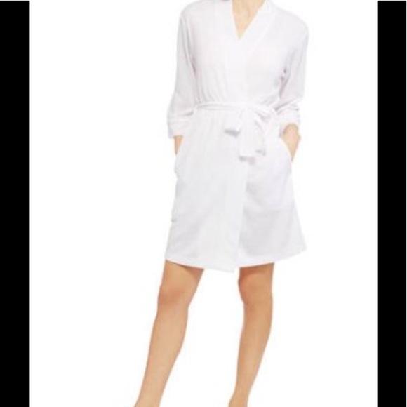 Intimates & Sleepwear | Womens Plus 2x White Waffle Robe Lightweight ...