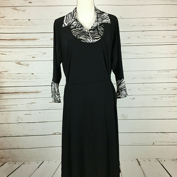0582d18947b Lane Bryant Dresses   Skirts - Final! Black Zebra Lane Bryant Size Dress  157A5