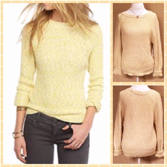 5b9ac91acb78f Free People Electric City Pullover Sweater Yellow