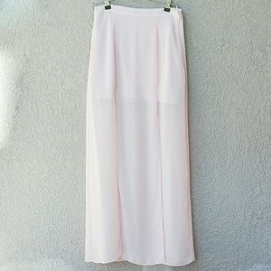 Forever 21 Blush maxi skirt sz small