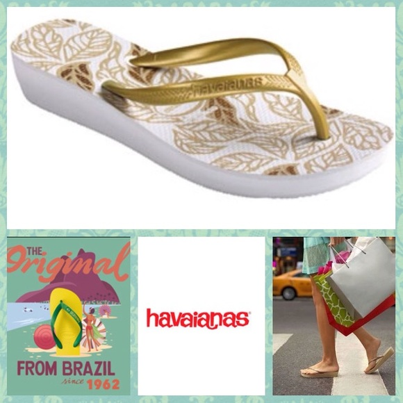 1e04b6bd48 Havaianas Shoes - NEW! Havaianas High Light ii wedge flip flops 7