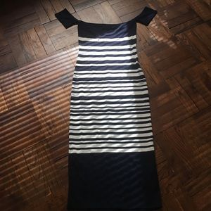 Never worn!! Zara stretchy striped dress