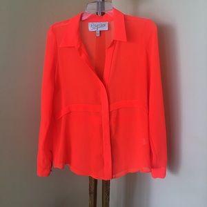 PRICE DROPPED 🎉Rory Beca neon orange blouse