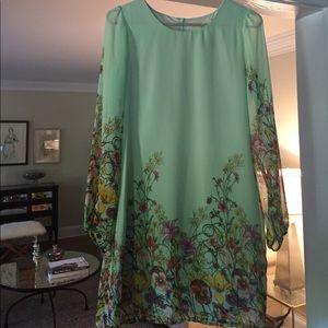 ✨SALE! mint green floral Yumi dress ✨
