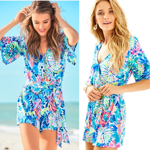 9a3ab50e6f8f Lilly Pulitzer Madilyn Romper in Dive In