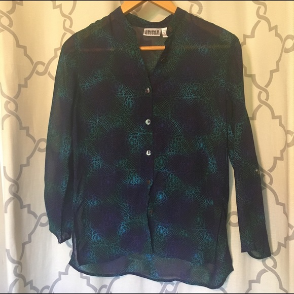 Chicos Green Blouse 73