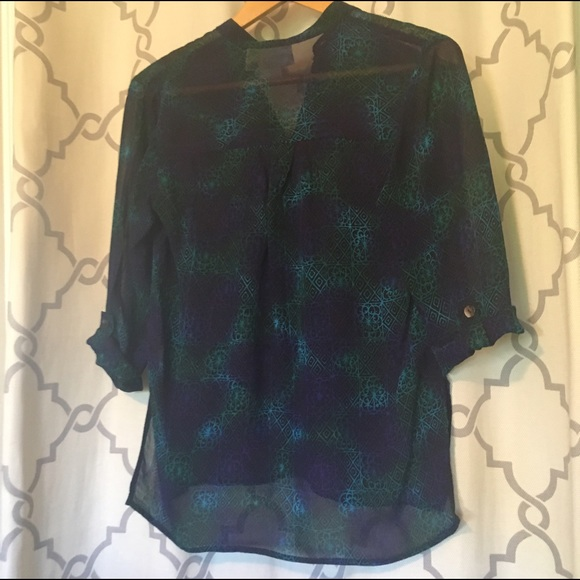Chicos Green Blouse 69