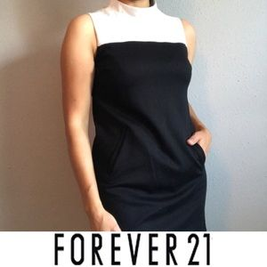 Forever 21 black and white dress small