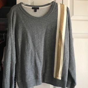 J CREW Striped Sweatshirt